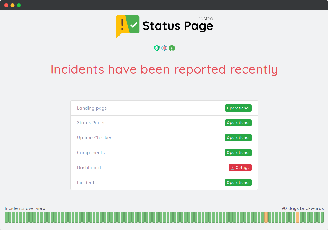 Status Page example